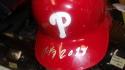 Maikel Franco Philadelphia Phillies Signed 2018 Game Used Batting Helmet MLB Auth