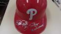 Phillie Phanatic Philadelphia Phillies Signed Batting Helmet COA Tom Burgoyne