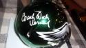 Dick Vermeil Philadelphia Eagles  Signed CHROME Mini Helmet COA
