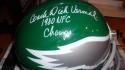 Dick Vermeil Philadelphia Eagles Signed Full Size Replica Throwback Helmet COA Inscription