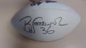Brian Westbrook Philadelphia Eagles Signed  Logo Football COA