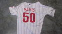 Hector Neris Philadelphia Phillies Signed Home Jersey COA