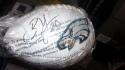 Brian Dawkins Philadelphia Eagles Signed  Logo Football JSA
