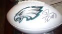 Jason Peters Philadelphia Eagles Signed  Logo Football COA