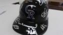 2019 Colorado Rockies Signed Team Signed FS Plastic Helmet COA