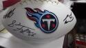 2019 Tennessee Titans Team Signed  Logo Football COA  2