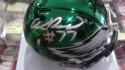 Andre Dillard Philadelphia Eagles  Signed Chrome Mini Helmet COA