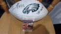 Trent Cole Philadelphia Eagles Signed Logo  Football JSA Inscription