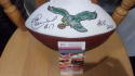 Harold Carmichael Philadelphia Eagles Signed Logo  Football Inscription HOF JSA