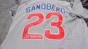 Ryne Sandberg Chicago Cubs Signed Away  Jersey COA HOF