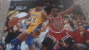 Magic Johnson Los Angeles Lakes vs Jordan Signed 16x20 Photo COA Fanatics