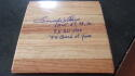 Lenny Wilkins Atlanta Hawks Signed Floorboard Inscriptions COA