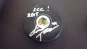 Kimmo Timonen Chicago Blackhawks signed Logo Puck COA Inscription