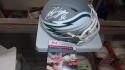 Miles Sanders Philadelphia Eagles  Signed Amp Mini Helmet JSA