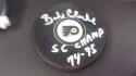 Bob Clarke Philadelphia Flyers Signed   logo Puck COA  SC Champs Inscription