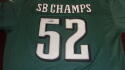 Doug Pederson  Philadelphia Eagles  signed replica  Superbowl 52 Champs Jersey! COA