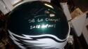 Chris Long Philadelphia Eagles Signed Full Size Replica Helmet JSA 2 inscriptions