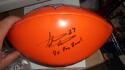 Steve Atwater Denver Broncos Signed Logo  Orange Football JSA