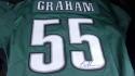 Brandon Graham Philadelphia Eagles  signed replica green Jersey JSA