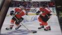 Bob Clarke/ Eric Lindros Philadelphia Flyers signed 11x14   Photo COA
