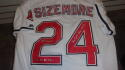 Grady Sizemore Cleveland Indians Signed Replica white