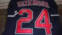 Grady Sizemore Cleveland Indians Signed Replica blue