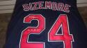 Grady Sizemore Cleveland Indians Signed Replica blue Jersey COA Inscription