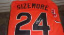 Grady Sizemore Cleveland Indians Signed 2007 all star Replica Jersey COA