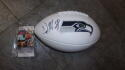 DK Metcalf Seattle Seahawks Signed Logo Football JSA