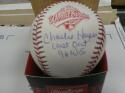 Charlie Hayes New York Yankees Signed 1996 World Series WS Baseball COA