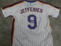 Gregg Jefferies New York Mets Signed Replica Home Jersey COA