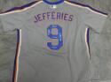 Gregg Jefferies New York Mets Signed Replica Away