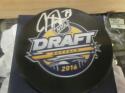 Carter Hart Philadelphia Flyers Signed Draft Logo Puck Fanatics COA