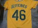Daulton Jefferies Oakland A's Signed Replica  Yellow  Jersey COA
