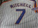 Kevin Mitchell New York Mets Signed Replica  Home Jersey COA Inscription