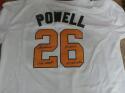 Boog Powell Baltimore Orioles Signed Replica  Throwback  Jersey COA 3 Inscription