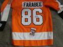 Joel Farabee Philadelphia Flyers Signed Replica Orange  Jersey JSA