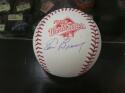 Tom Browning Cincinnati Reds signed 1990 WS World Series Baseball COA
