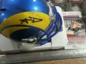 Aaron Donald Los Angeles Rams  Signed Mini Helmet JSA
