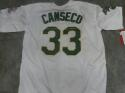 Jose Canseco Oakland A's Signed Replica White Jersey JSA Inscription