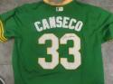 Jose Canseco Oakland A's Signed Replica Throwback Green Jersey JSA