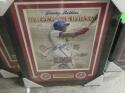 Jimmy Rollins Philadelphia Phillies Signed 11x14 All time hits leader framed print COA