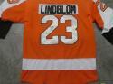 Oskar Lindblom Philadelphia Flyers Signed Replica Orange  Jersey COA