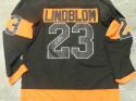 Oskar Lindblom Philadelphia Flyers Signed Replica Black  Jersey COA
