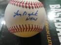 Lenny Dykstra Philadelphia Phillies/Mets Signed OLB Baseball COA Inscription
