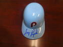 Greg Luzinski Philadelphia Phillies Signed  Throwback Mini Ice Cream Helmet COA