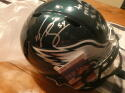 Jeremiah Trotter Philadelphia Eagles Signed FS Replica STAT Helmet COA JSA