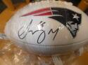 Sony Michel New England Patriots Signed Logo Football Fanatics COA